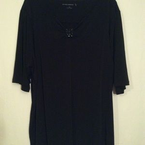 🌞 Susan Graver Black Ladies Blouse